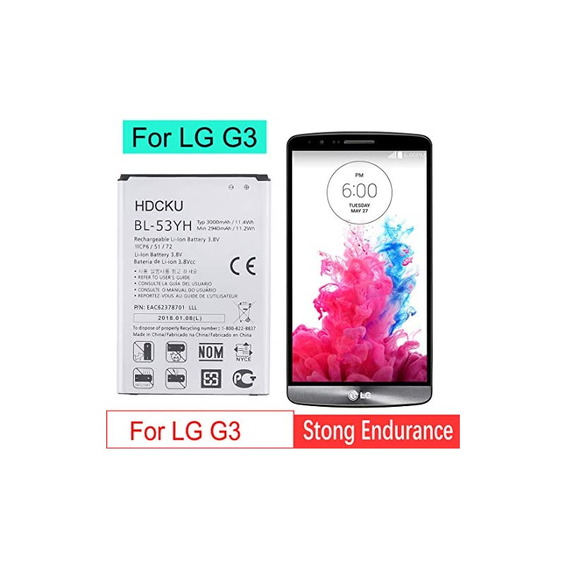 HDCKU LG G3 Battery Replacement for 3000