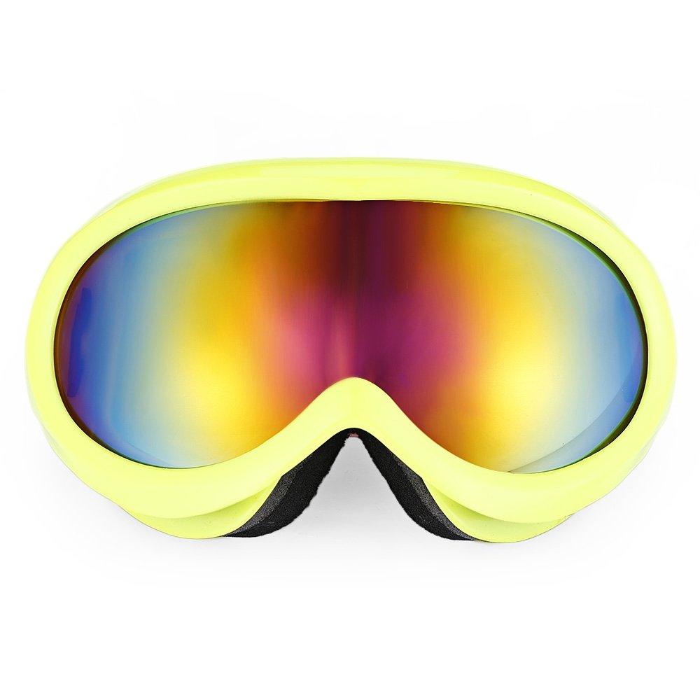 SHUFAGN,Unisex-Anti-Fog-Objektiv Snowboarding Skibrille Brillen Brillen Brillen(Color:GELB)