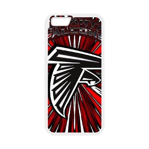 Atlanta Falcons Team Logo coque iPhone 6 4.7 Inch Housse Blanc téléphone portable couverture de cas coque EBDOBCKCO14478
