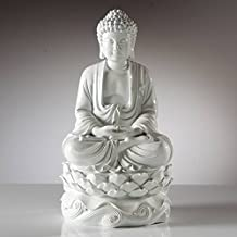 "Torre & Tagus 902278B Peaceful Buddha Resin Decor 16"" Statue - White"