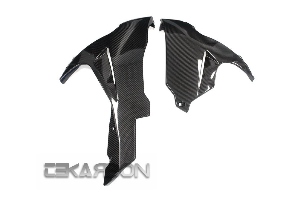2011 - 2015 Suzuki GSXR 600 / 750 Carbon Fiber Lower Side Fairings - twill