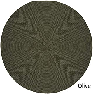 product image for Rhody Rug Woolux Wool Braided Rug - 6' Round Sage