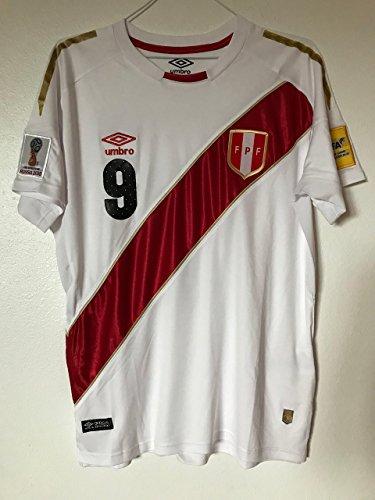 06490c658e4 FPF 2018 Peru Home Guerrero  9 soccer shirt (Size S)