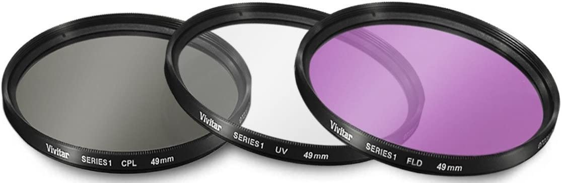 UV1a, CPL, FLD High Grade Multi-Coated /& Threaded Filter Set for Canon EOS 77D 52mm