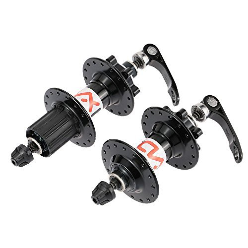 Lixada MTB Mountain Bicycle 32H Disc Brake Hub Set Aluminum Alloy Front Rear Hub with Quick Release Lever Skewers