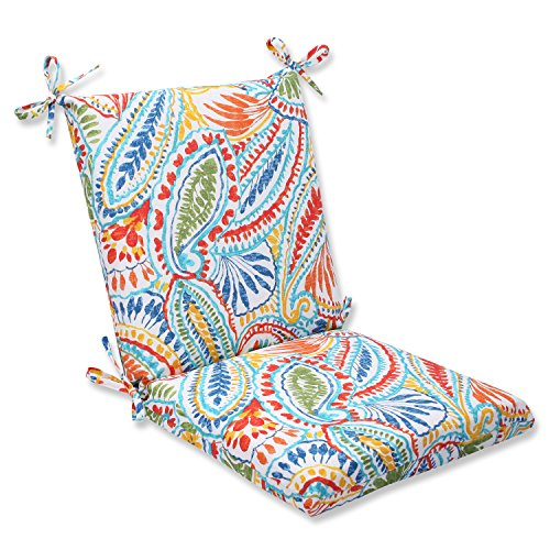 Pillow Perfect Outdoor Ummi Squared Corners Chair Cushion, Multicolored
