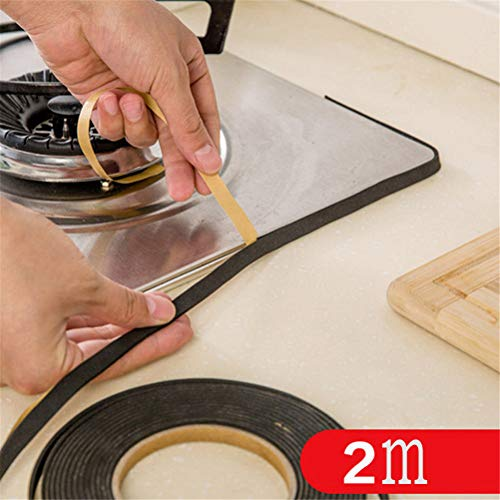 White Cooker Gas (Accessory Kitchen - 2pcs 2m Sealing Tape Gas Stove Gap Cooker Slit Antifouling Strip Seal Ring - Burner Tape Tool Ducati Foam Rubber Magnetic Stainless White Oven Tile Deli Organ Cooktop Stove)