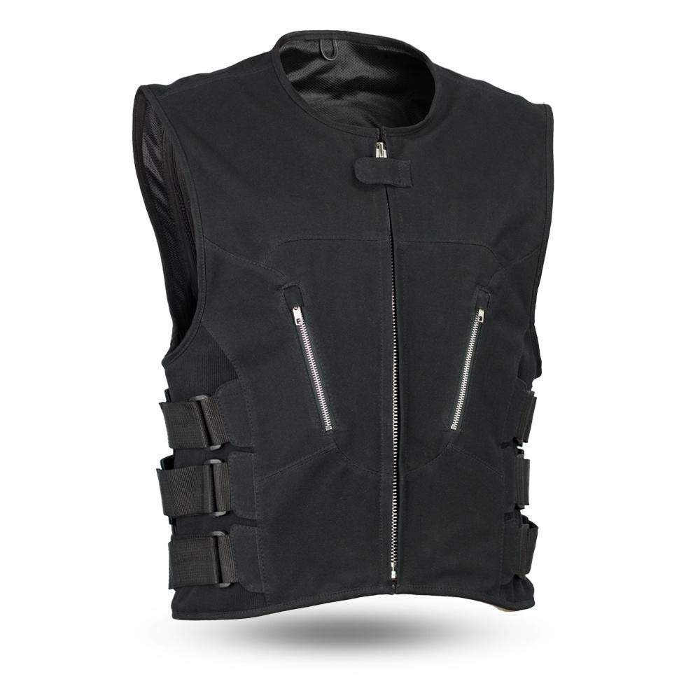 First Mfg Co Mens Commando Cavas Vest BLACK 2X-Large