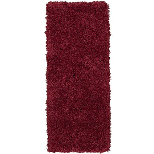 Ottomanson Flokati Collection Faux Sheepskin Shag Runner Rug, 2'X5', - Carpet Red Shag