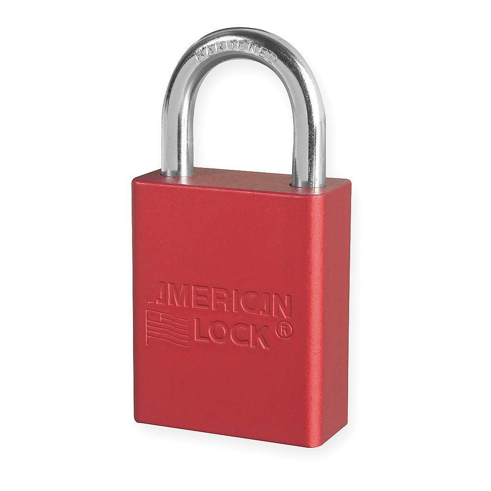 6 Pack of American Lock Padlock With 1 1/2'' Solid Aluminum Body 1'' Shackle