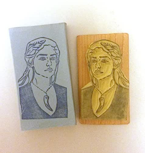 Daenerys Stormborn of the House Targaryen, First of Her Name, the Unburt, Khaleesi of the Great Grass Sea, Breaker of Chains, and Mother of Dragons - Hand carved rubber stamp