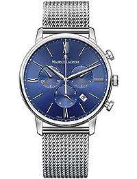 Men's 'Eliros' Swiss Quartz Stainless Steel Casual Watch, Color:Silver-Toned (Model: EL1098-SS002-410-2)