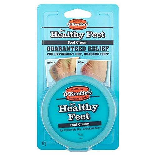 着陸心臓抑圧[O'Keeffes] オキーフの健全な足のJar 91グラム - O'Keeffe's Healthy Feet Jar 91g [並行輸入品]
