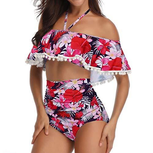 Swimwear Cover Up For Women Sexy-Fashion Print Ruffled Bikini Two-Piece Suit By -