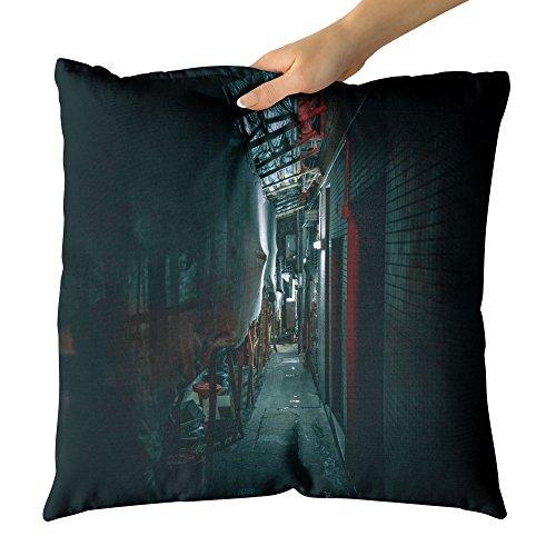 Westlake Art - Urban Passageway - Decorative Throw Pillow Cushion - Picture Photography Artwork Home Decor Living Room - 16x16 Inch by Westlake Art