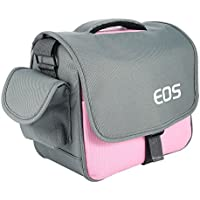 pangshi Camera Bag Case for Canon Rebel EOS T7 T6i T6 T6sT5i T4i T3i T2i 5D Mark III/II 7D Mark II EOS 700D 650D 600D 550D DSLR Pink