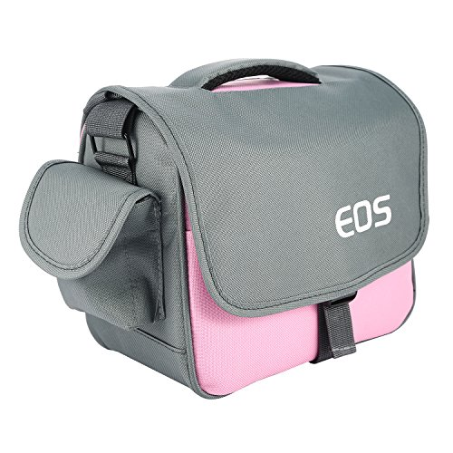 pangshi Camera Bag Case Compatible with Canon Rebel EOS T7 T6i T6 T6sT5i T4i T3i T2i 5D Mark III/II 7D Mark II EOS 700D 650D 600D 550D DSLR Pink
