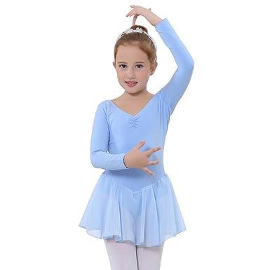 Odziezet Vestido Danza Ballet Niña Manga Larga Contemporaneo ...
