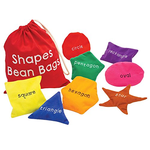 Educational Insights Shapes Beanbags, Learn Shapes, Toddler Learning Toy, Preschool Toys, Set of 8 Beanbags, Ages 3+