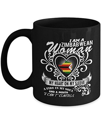 Zimbabwe Mug Zimbabwean Mug Coffee Flag Beer Travel Cute Gifts For Your Dad Mom Friend as Seen on T Shirt 11 Ounce Black Ceramic Cup Mugs