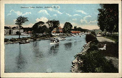 Owasco Lake Outlet Auburn, New York Original Vintage - Outlet Auburn