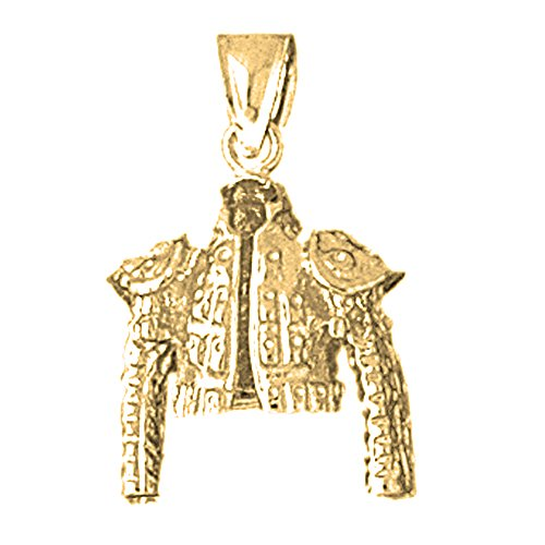 18K Yellow Gold 26mm Matador Jacket Charm Pendant by JewelsObsession
