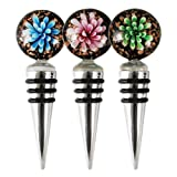Assorted Glass Flower Bottle Stoppers by Blush
