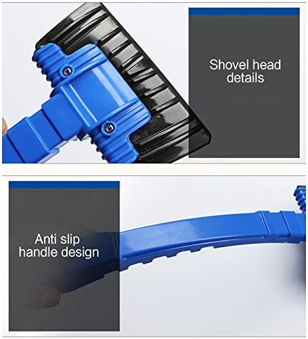 Car Windshield Snow Scraper, Snow Ice Shovel for Car, Anti Slip Handle, Portable Frost and Snow Removal Tool for Car Windshield and Window, Scratch-Free, Car Vehicle Tool, 4.7x11.8 inch