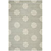 Safavieh Soho Collection SOH724C Handmade Grey and Ivory Premium Wool Area Rug (6 x 9)