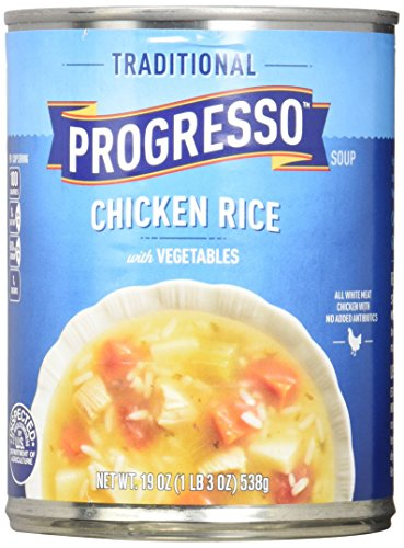 Progresso Traditional Soup, Chicken Rice with Vegetables, 19 oz, 12 Pack