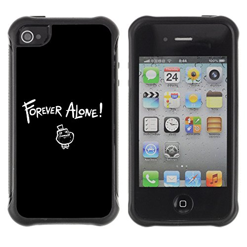 ZAKO Cases / Apple Iphone 4 / 4S / Forever Alone / Robuste Antichoc Coverture Shell Armure Coque Coq Cas Etui Housse Case Cover Slim Armor