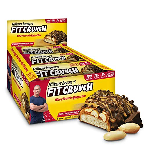 FITCRUNCH Snack Size Protein Bars   Designed by Robert Irvine   World's Only 6-Layer Baked Bar   Just 3g of Sugar & Soft Cake Core (9 Snack Size Bars)