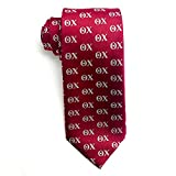 Theta Chi Fraternity Necktie Greek Formal Occasion Standard Length Width Hanky Pocket Square T Chi (Letter Necktie)