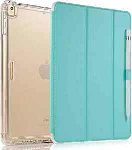 Valkit iPad Air (3rd Gen) 10.5'' 2019 / iPad Pro 10.5'' 2017 Case, Smart Folio Stand Protective Translucent Frosted Back Cover for Apple iPad Air 3 10.5 Inch 2019[Auto Sleep/Wake], Mint Green