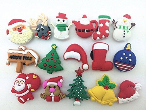: 16pcs Christmas Day,santa Claus,christmas Trees Shoe Charms for Croc Shoes & Wristband Bracelet