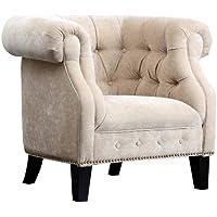 Abbyson Brighton Fabric Nailhead Trim Armchair
