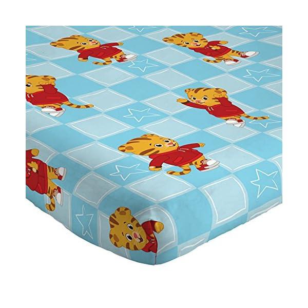 Jay Franco Daniel Tiger's Neighborhood 4 Piece Toddler Bed Set - Super Soft Microfiber Bed Set Includes Toddler Size Comforter & Sheet Set - (Official Daniel Tiger's Neighborhood Product) 4