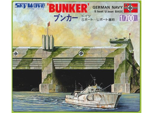 Skywave 1/700 WWII German U-Boat Bunker Model Kit