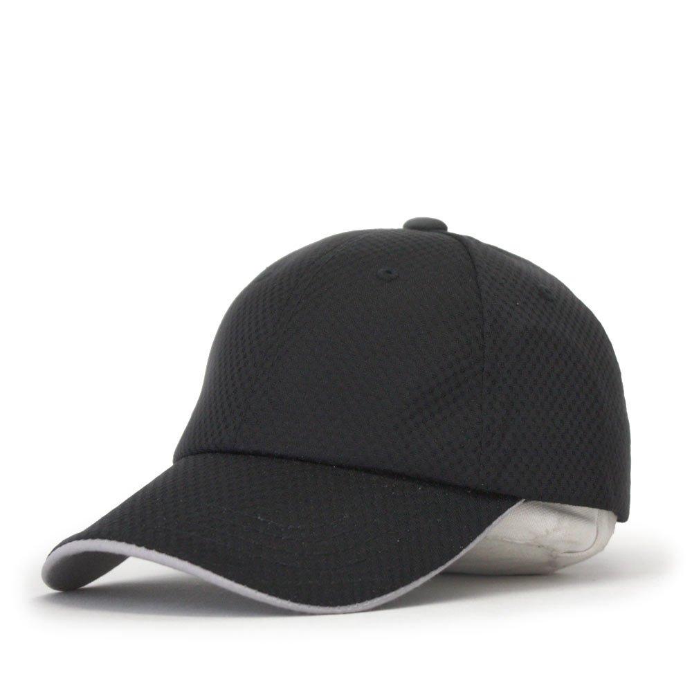 fd23c6c1ebd0 Plain Pro Cool Mesh Low Profile Adjustable Baseball Cap (Athletic Mesh  Black) at Amazon Men s Clothing store