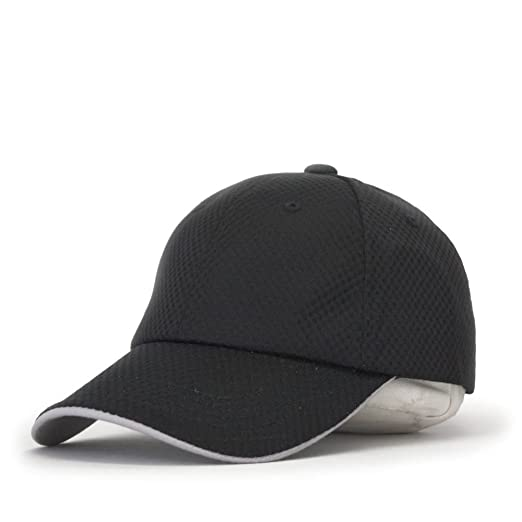 cd0b6804356 Plain Pro Cool Mesh Low Profile Adjustable Baseball Cap (Athletic Mesh  Black)