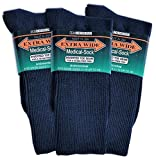 Extra Wide Medic Socks 11/16 6 pair for 48.99 (Navy)