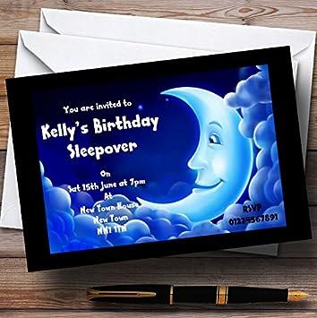 Luna Dormir Pijamas pijama personalizado invitaciones de fiesta