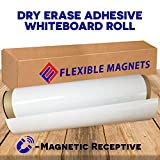 12'' x 24'' Dry Erase Whiteboard Sheet with Adhesive on Back - Magnetic Receptive.