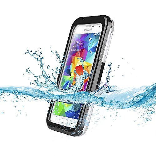 Galaxy S5 Waterproof Case,Waterproof Shockproof Shock Proof Snow Proof Snowproof DirtProof Dirt Proof Durable Full Protection Case Cover with Headphone Adapter for Samsung Galaxy S5 (Black)