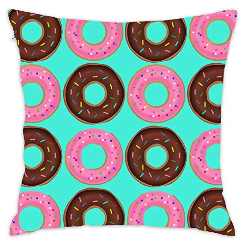 NEWcolor Rest Pillow, Office Cushion, Bed Decoration, Art Pillow Donut Frenzy Blue