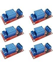 ICQUANZX 6Pcs 5V Een 1-kanaals relaismodule Board Shield met Optocoupler-ondersteuning Hoge en lage trigger-voedingsmodule