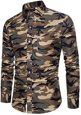 IYFBXl Camisa básica/Street Chic para Hombre - Camuflaje, Verde Militar, XL: Amazon.es: Deportes y aire libre
