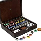 Bello Games Collezioni - Via Monte Napoleone Luxury Poker Set from Italy In a Genuine Lizard Case.