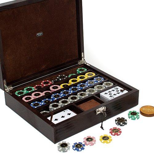 Bello Games Collezioni - Via Monte Napoleone Luxury Poker Set from Italy In a Genuine Lizard Case. by Bello Games New York, Inc.