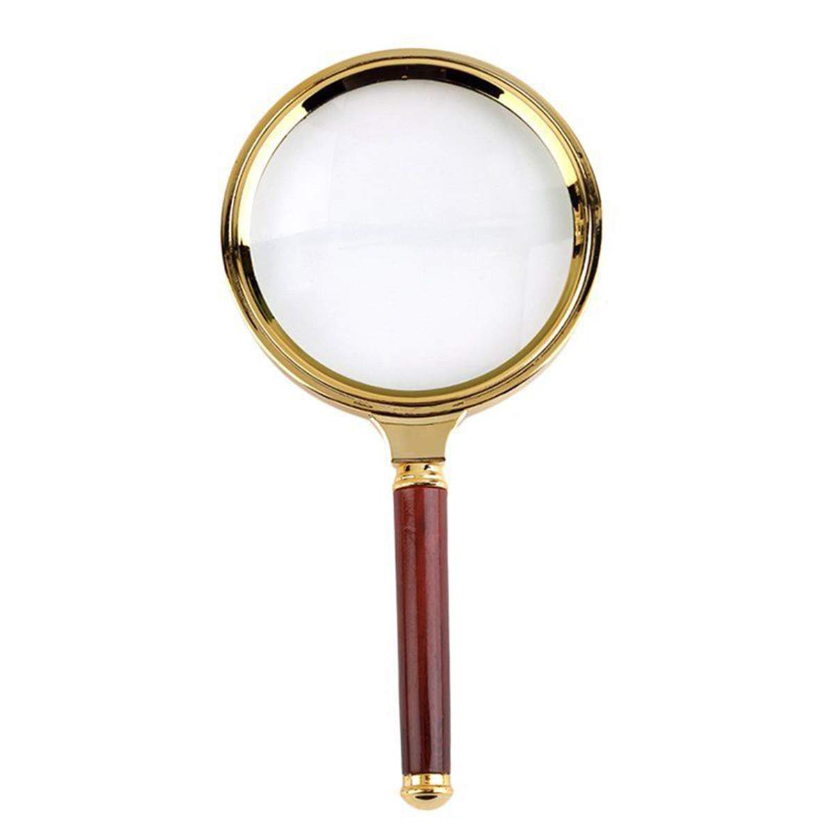 70mm/90mm Magnifying Glass,10x Handheld Magnifier, Reading Magnifier Loupe Glasses 10X with Rosewood Handle for Book and Newspaper Reading, Insect and Hobby Observation, Classroom Science AUKMONT